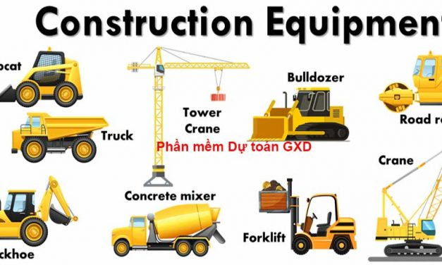 Tên tiếng Anh 9 loại máy và thiết bị xây dựng người lập dự toán nên biết