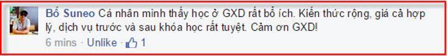 kỹ sư nhận xét khóa học dự toán GXD