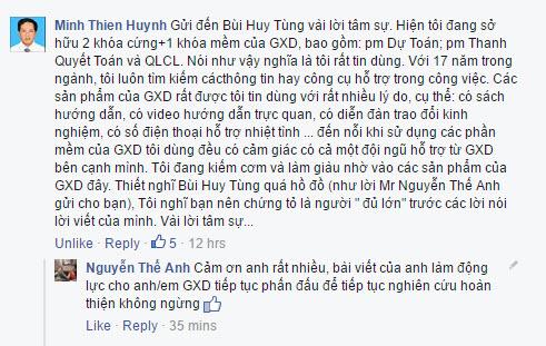 Bài comment tâm sự của kỹ sư Huỳnh Minh Thiện về phần mềm GXD